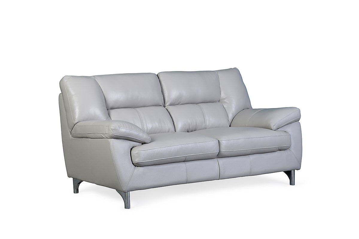 Home Sofa Collections Newbury Lead Grey Leather