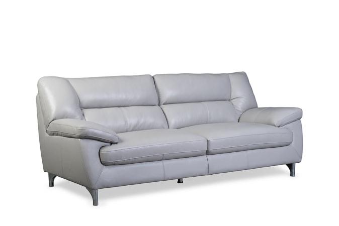 Newbury Lead Grey Leather Sofa