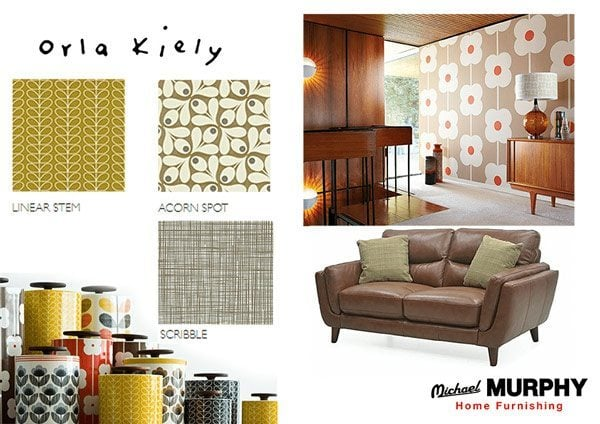 Channel Your Inner 70 S Hippie With The Orla Kiely Wallpaper