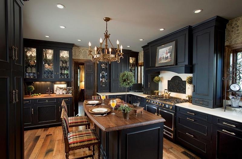 20-Beautiful-Kitchens-with-Dark-Kitchen-Cabinets-Design-16 & 20-Beautiful-Kitchens-with-Dark-Kitchen-Cabinets-Design-16 - Michael ...