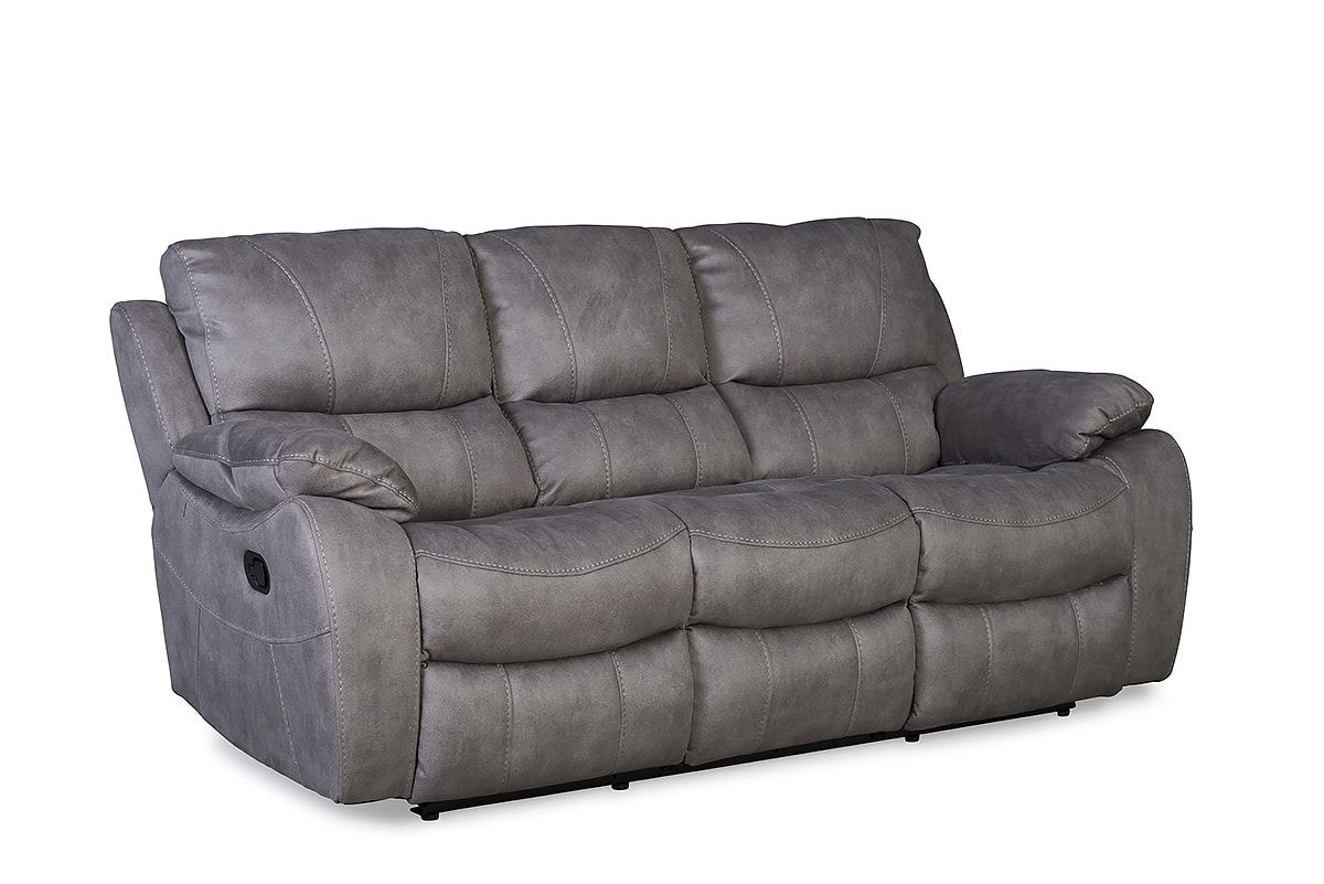 Jupiter 3 Seater Recliner Sofa Grey
