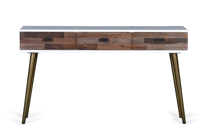 Pleasant Viggo 3 Drawer Console Table Interior Design Ideas Oxytryabchikinfo