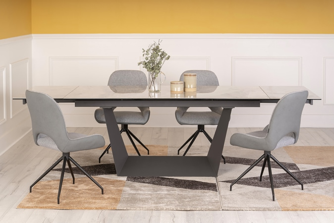 Trento 1 8 2 7m Extending Dining Table