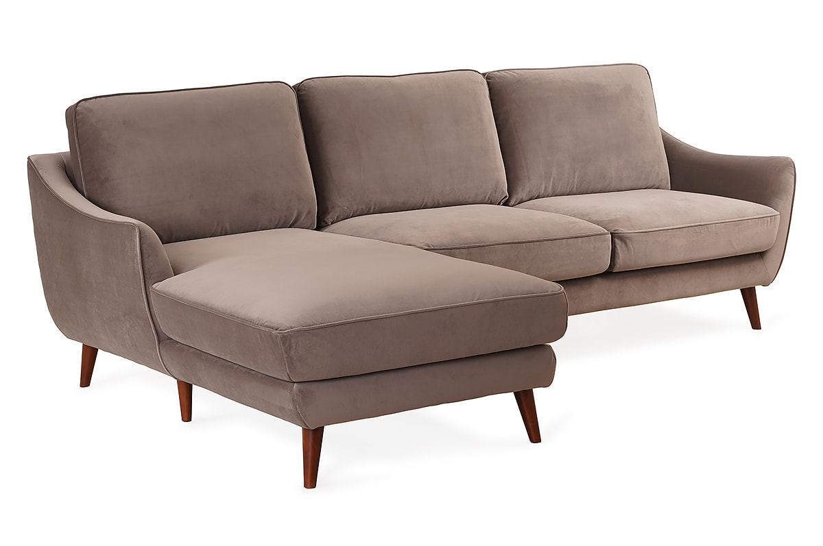 Olivia 2 Seater with Chaise Left Hand Facing Sofa