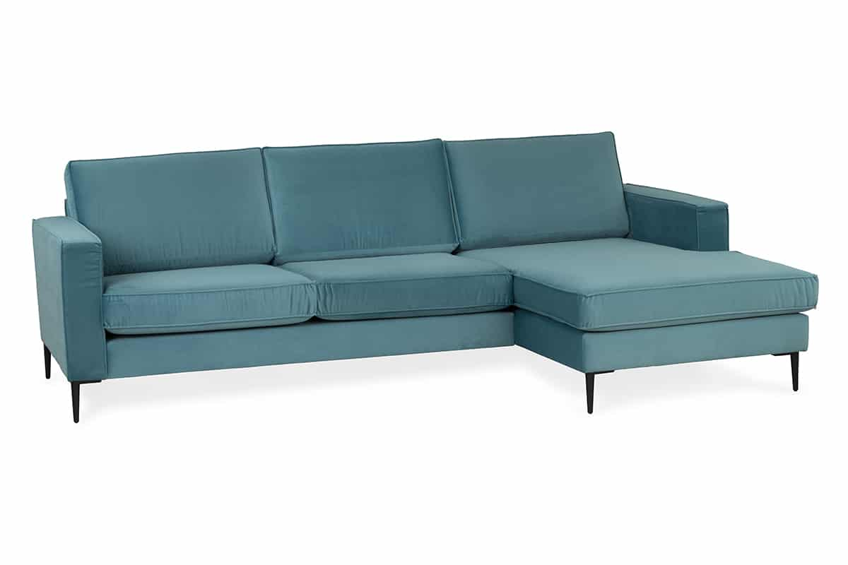 Enjoy 2 Seater Sofa with Chaise Light Blue – Michael Murphy Home ...